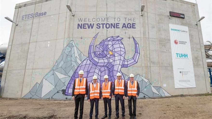 Planta de almacenamiento de energía en rocas volcánicas de Siemens Gamesa en Hamburgo.