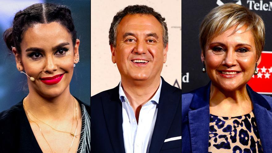 Cristina Pedroche, Roberto Brasero y Gloria Serra