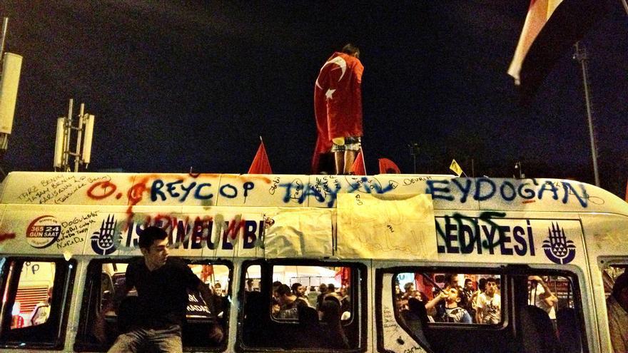 Plaza Taksim de Estambul, 8 de junio de 2012 (Juan Luis Sánchez)