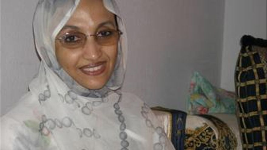 La activista Aminetu Haidar