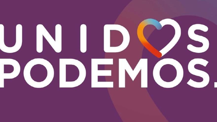 Versión de Podemos del logo de la candidatura Unidos Podemos.