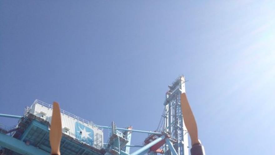 Helifilm participó en el rodaje de 'El Niño', en el puerto de Algeciras