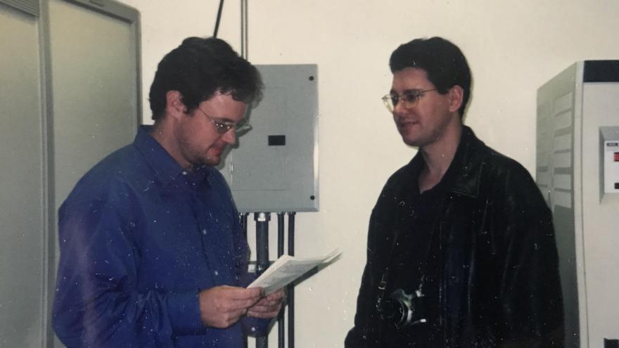 Rich Skrenta y Bob Truel en una imagen de 1999 o 2000