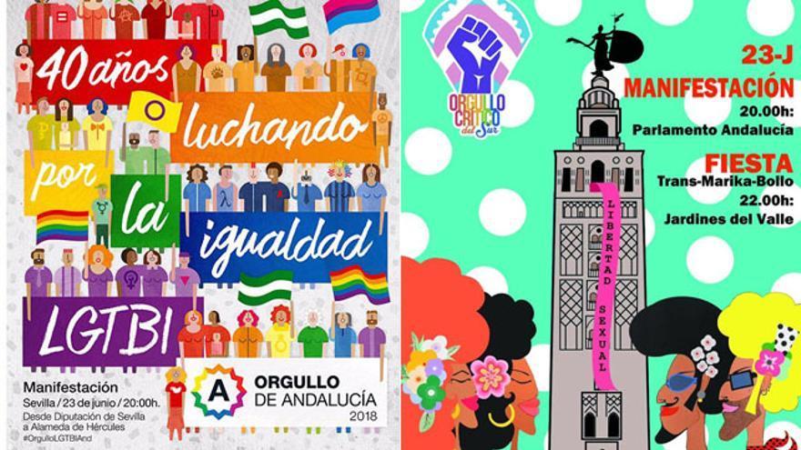 El Orgullo LGTBI se divide en Andalucía por primera vez en 40 años en dos manifestaciones paralelas