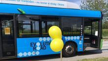 El autobús Solaris de la prueba.