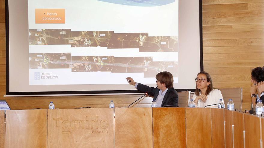 """Presentación de la Xunta en Tomiño (Pontevedra) de la """"autovía urbana"""" en que convertirá la carretera convencional que atraviesa el municipio"""