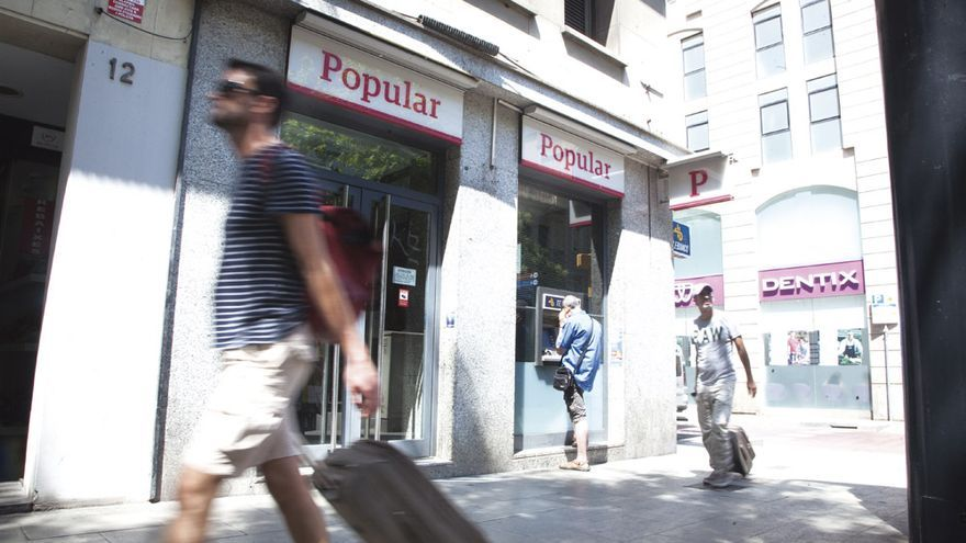 Sucursal del Banco Popular en Barcelona. Foto: ANDREA BOSCH.