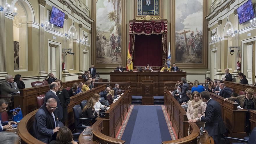 Pleno del Parlamento de Canarias.