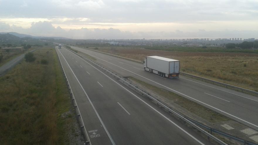 Un tramo de la A-7 entre Sagunto y Nules.