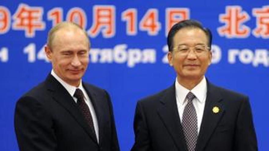Putin y Jiabao