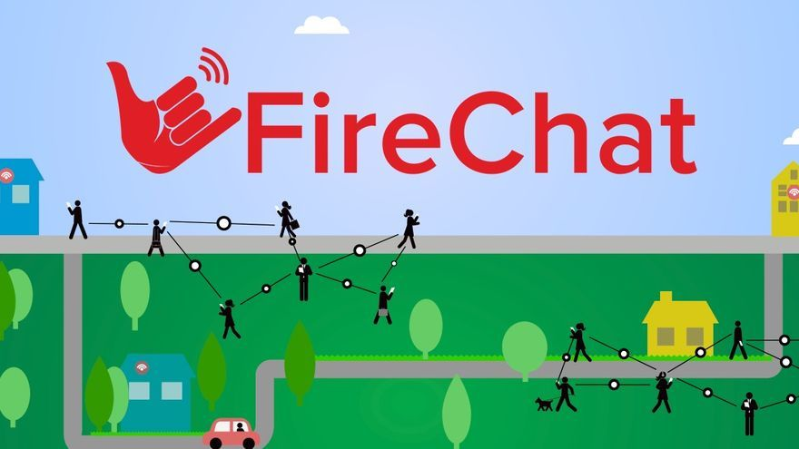 Red en malla de la que se vale Firechat para funcionar sin Internet