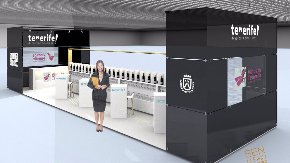 Infografía del Túnel del Vino de Tenerife en Madrid Fusión