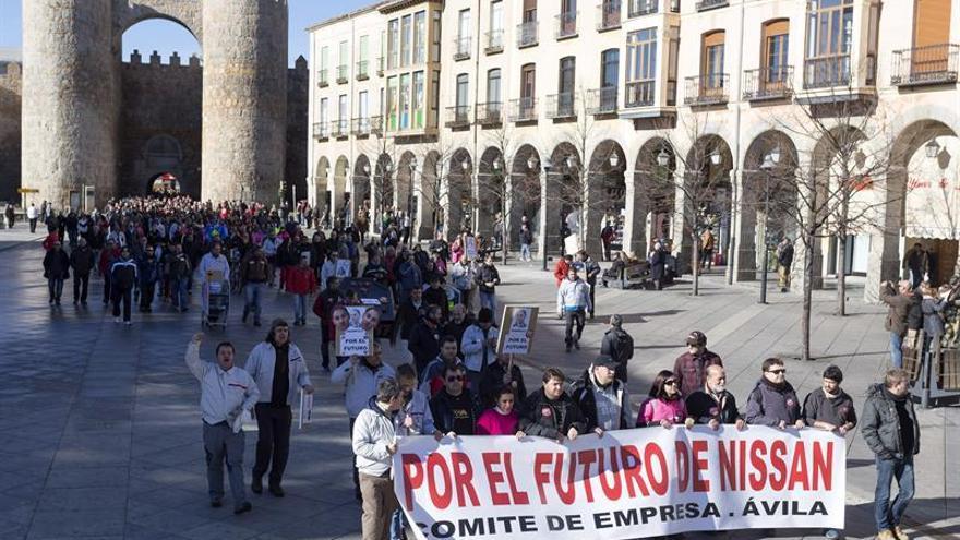 Se cumple la primera jornada de huelga de Nissan Ávila en sábado