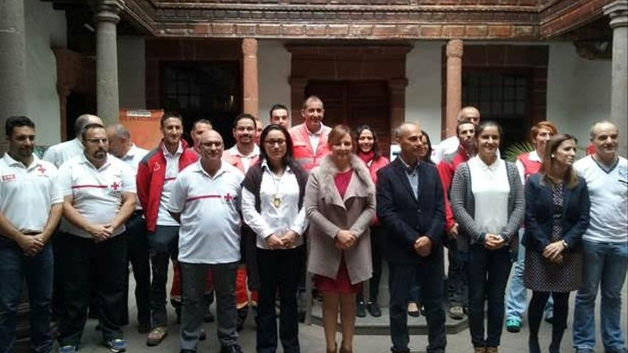 En la imagen, acto de presentación de los Equipos de Respuesta Inmediata en Emergencias.