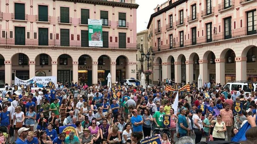 Concentración en Huesca el pasado mes de junio
