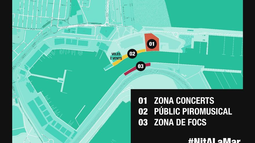Plano de ubicación de las actividades de este sábado