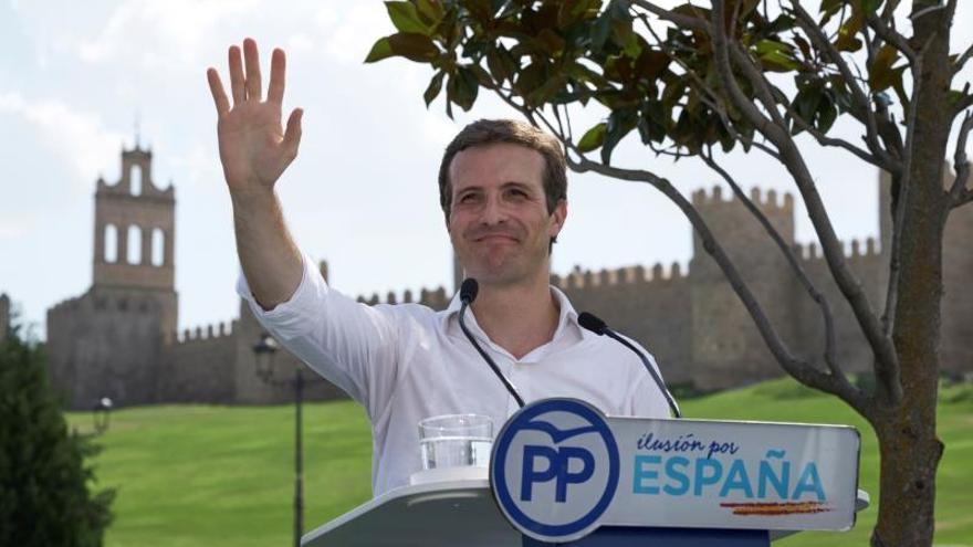 Pablo Casado, durante el acto del PP celebrado en Ávila este domingo