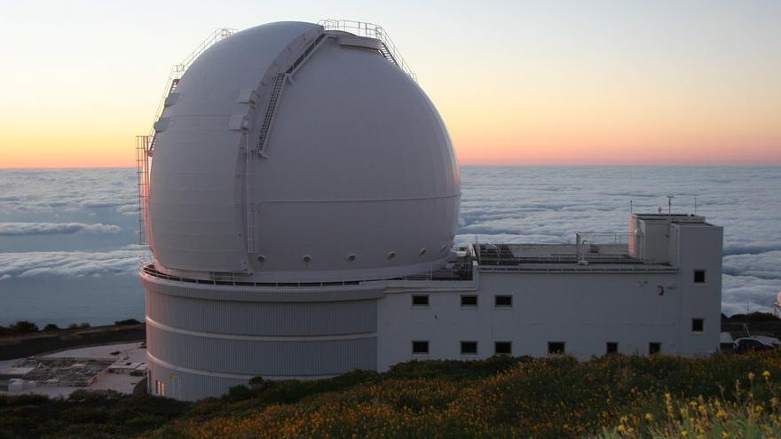 Telescopio  William Herschel, en el Observatorio de Astrofísica del Roque de Los Muchachos (Garafía)