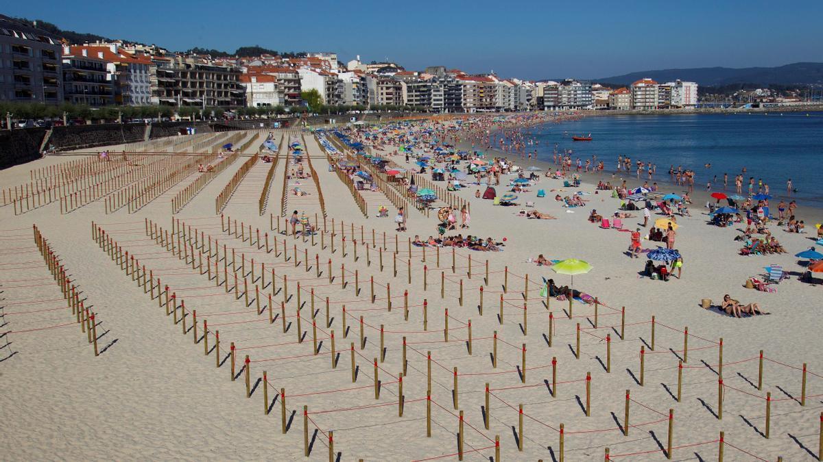 Vista de la playa de Silgar en Sanxenxo. EFE / Salvador Sas/Archivo