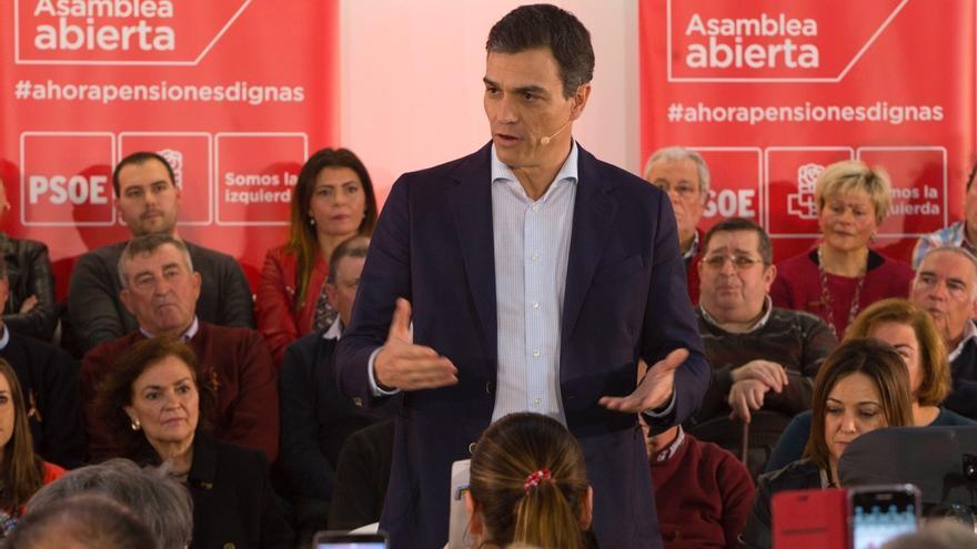 """Pedro Sánchez advierte que el cambio no es pasar del PP a Cs sino """"de la derecha a la izquierda"""""""