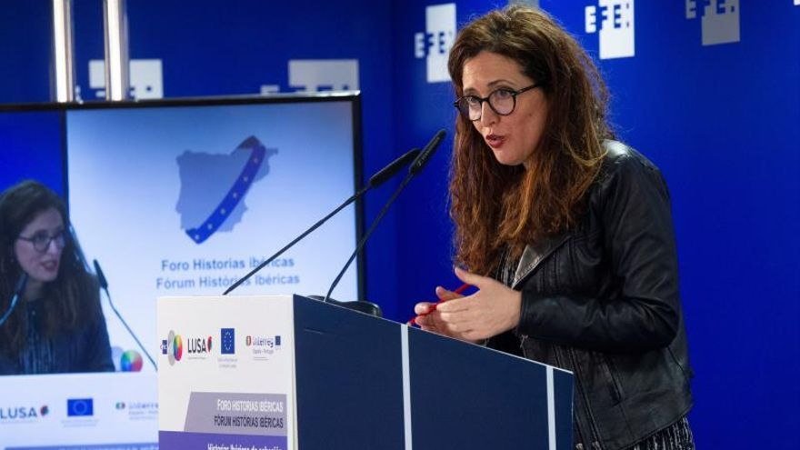 La directora general de Fondos Europeos, Ministerio de Hacienda, Mercedes Caballero, durante su intervención en el foro.