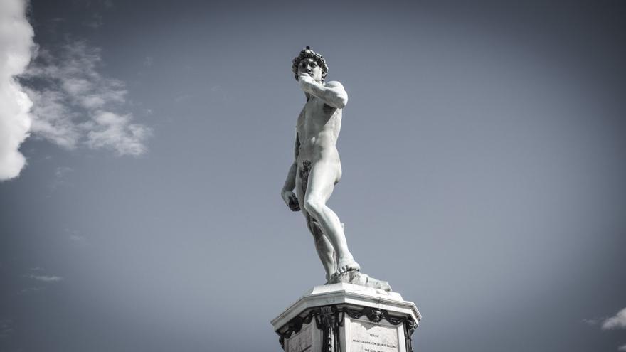 Una de las copias del David de Michelangelo, en el Piazzale Michelangelo.