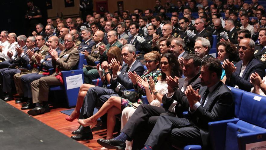 Autoridades invitadas al acto institucional del patrono del Cuerpo Nacional de Policía. (ALEJANDRO RAMOS)