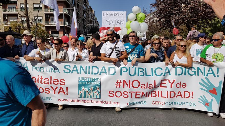 Spiriman encabeza la manifestación del 15-O