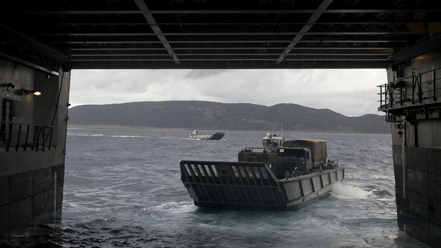 """Armada ultima el ejercicio """"Gruflex 61"""" en Cádiz"""