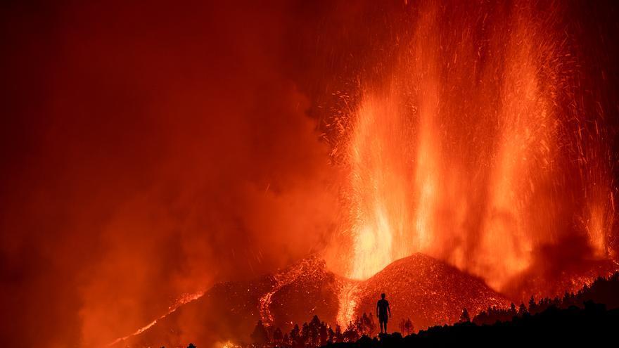 Erupción volcánica en La Palma. / FOTO: Abián San Gil Hernández