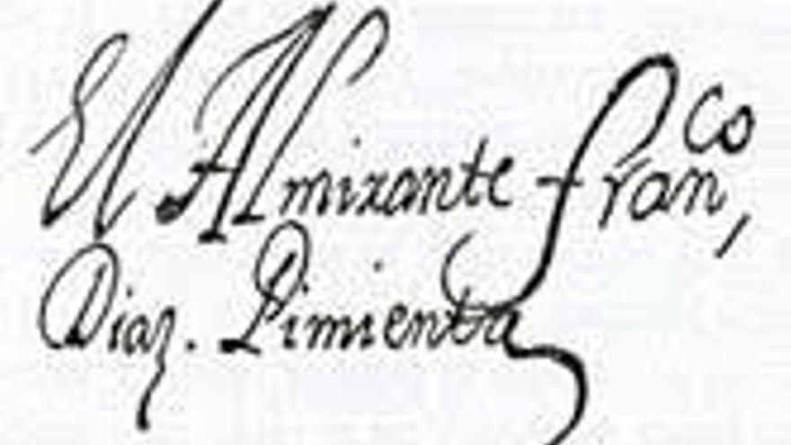 Firma del almirante Díaz Pimienta.