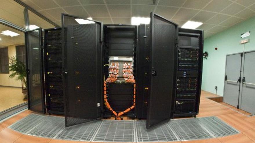 El supercomputador 'LaPalma 2', ubicadao en el CAP del Instituto de Astrofísica de Canarias en Breña Baja. Crédito: M. Briganti (SMM, IAC).