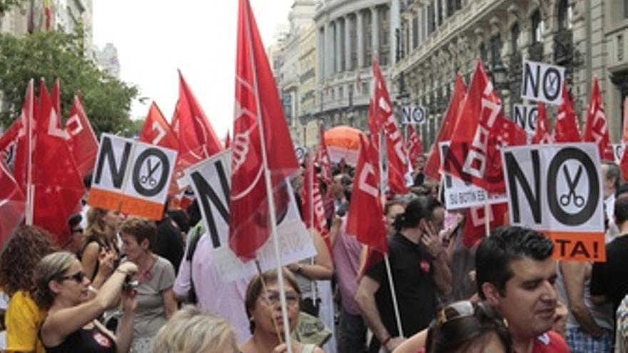 Manifestación en España por los recortes