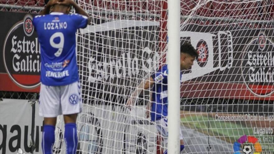 Anthony 'Choco' Lozano lamentándose tras encajar un gol ante el Lugo. (LALIGA).