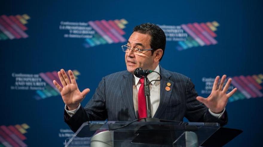 El presidente de Guatemala es citado mañana por la comisión que analiza su antejuicio