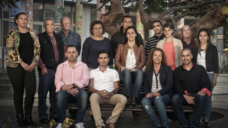 En la imagen, los componentes de la lista del PSOE al Ayuntamiento de la Villa y Puerto de Tazacorte.