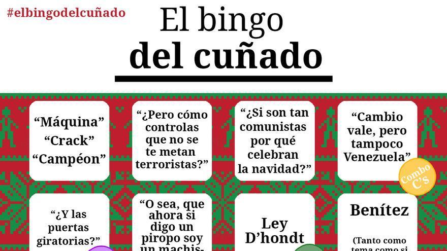 Llega 'El Bingo del cuñado', para sobrellevar las discusiones políticas en Navidad