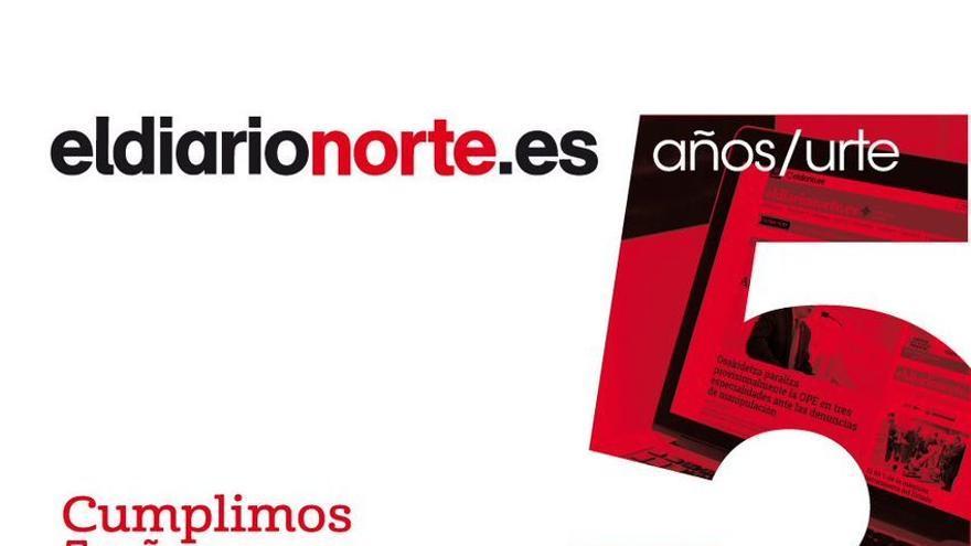 Invitación 5º aniversario de eldiarionorte.es