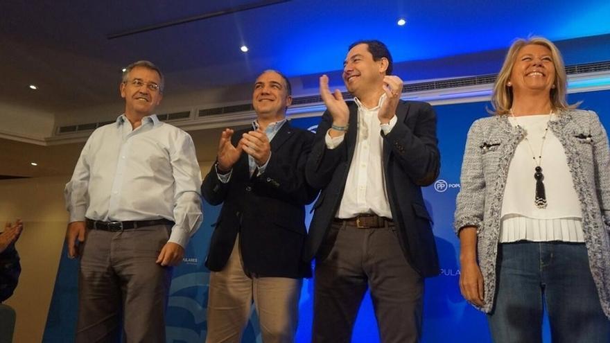 """Moreno (PP) ensalza la experiencia de Rajoy ante """"las amenazas"""" de España, como el independentismo y el yihadismo"""