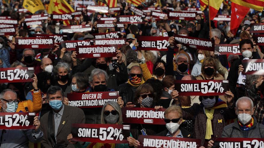 La ANC se manifiesta en Barcelona para reclamar un Govern independentista
