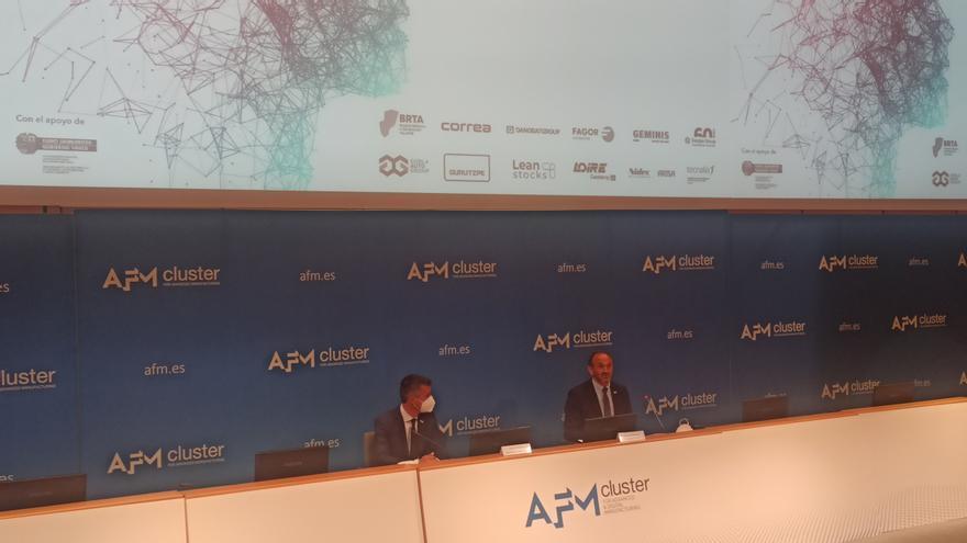 El secretario general de AFM, Xabier Ortueta, y el presidente César Garbalena