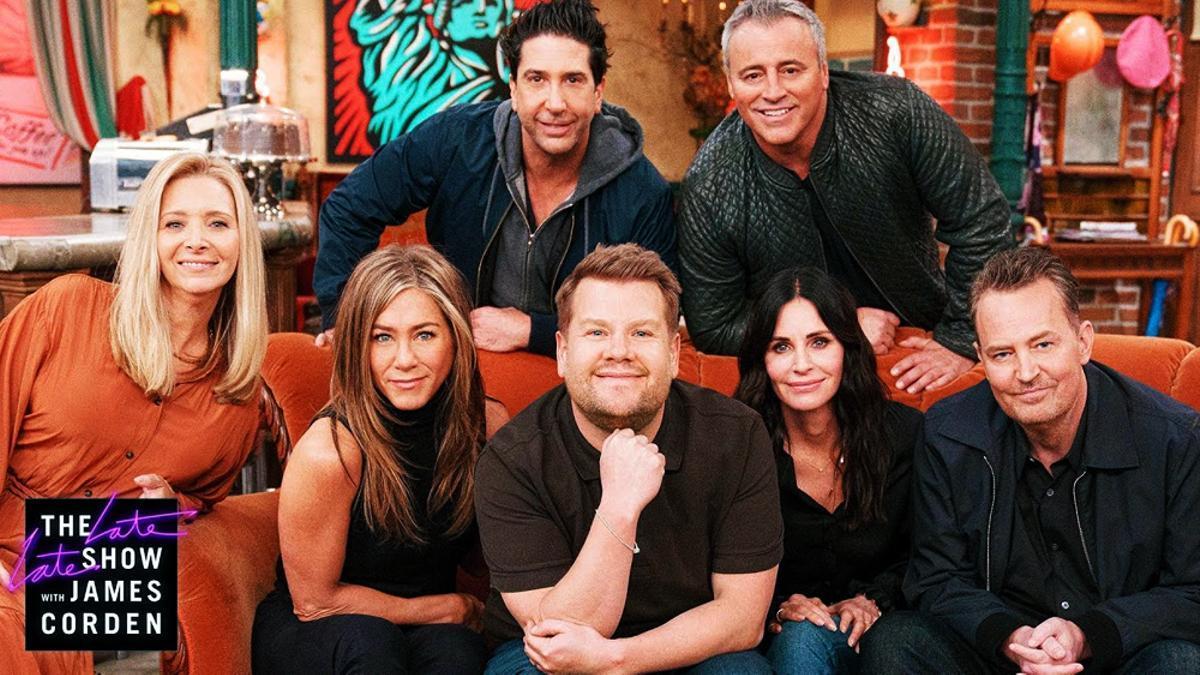 Los actores de 'Friends' con James Corden