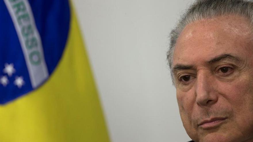 El presidente brasileño Temer vuelve al trabajo tras su operación de próstata