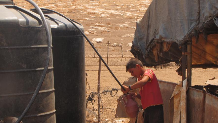 Palestinos del valle del Jordán sin red de saneamiento ni agua corriente/ Fotografía: Atef Abu a-Rub/ B'tselem.