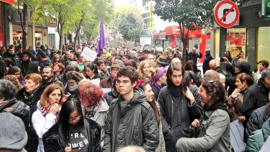 Manifestación contra el alcalde de Alcorcón y diputado en la Asamblea de Madrid, David Pérez
