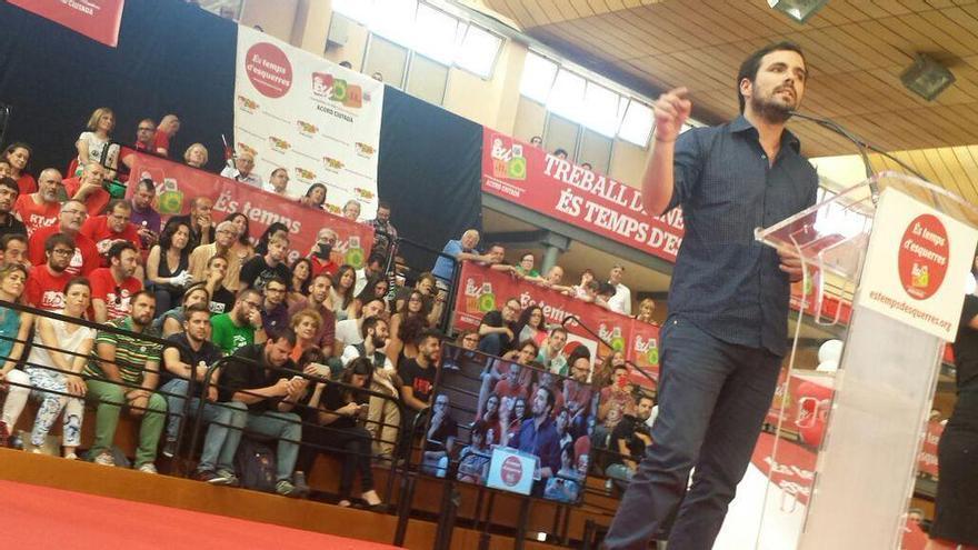 Alberto Garzón durante el acto central de campaña de Esquerra Unida en la Comunitat Valenciana / @iunida