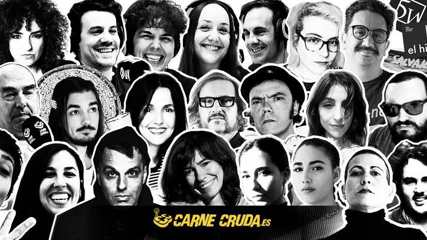 Parte de los colaboradores y colaboradoras que han hecho Carne Cruda esta temporada