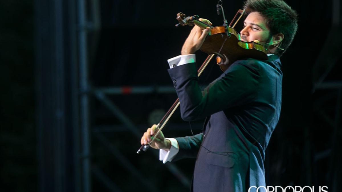 Paco Montalvo en un concierto en la Axerquía