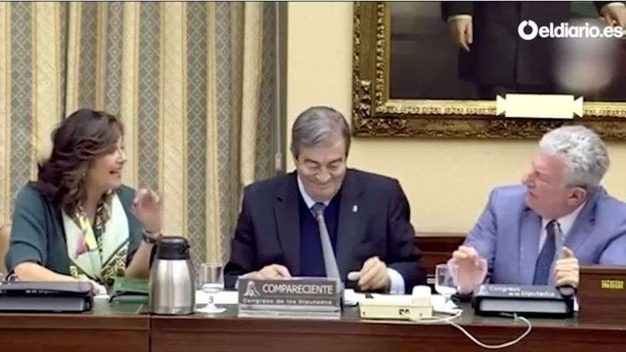 Beatriz Escudero discute con Rufián durante la comparecencia de Álvarez-Cascos