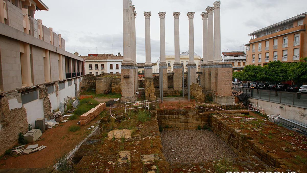 El Templo Romano en obras dentro del Plan Turístico de Grandes Ciudades.